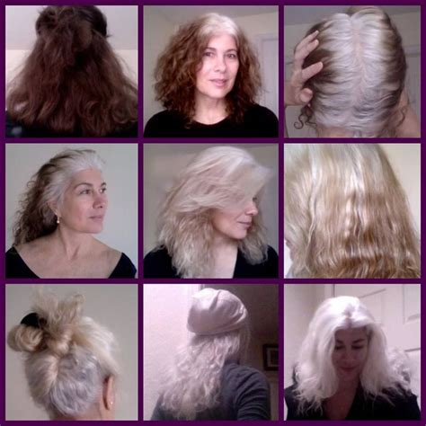photos of how to transition to gray hair 1352 best gorgeous gray hair images on pinterest