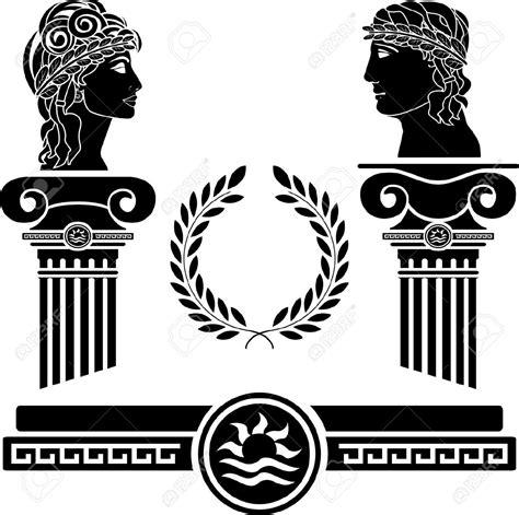greek pattern svg greek columns and human heads vector illustration royalty