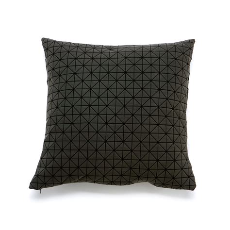 How To Make A Paper Pillow - geo origami pillow cover black 24 l x 12 h