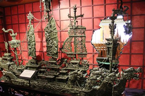 jade dragon boat carving ripley s believe it or not museum branson weird but