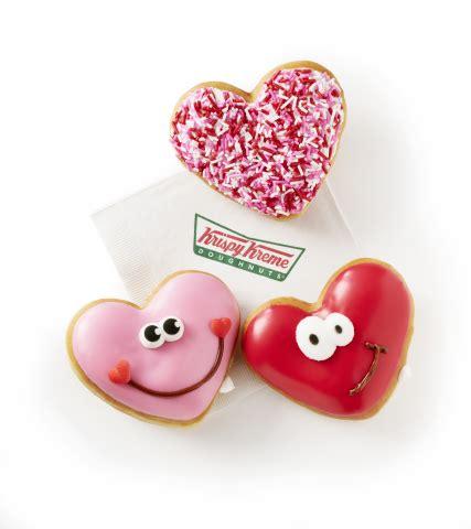 Happy Hearts From Krispy Kreme happy hearts krispy kreme doughnuts showcases