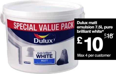 dulux bathroom paint price dulux matt emulsion paint pure brilliant white 5ltr 163 10