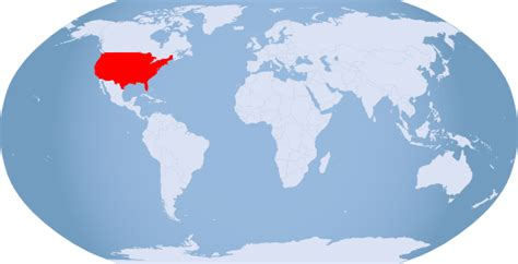 usa on world map globe usa highlighted clip at clker vector clip