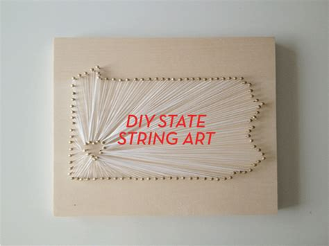 How To Do String On Wood - you should totally make diy state string design crush