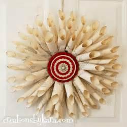 Pottery Barn Christmas Tree Advent Calendar - book page christmas ornament tutorial