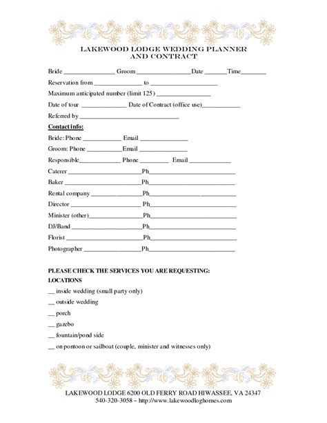 Wedding Planner Email List by Wedding Planner Contract Template Baby Shower