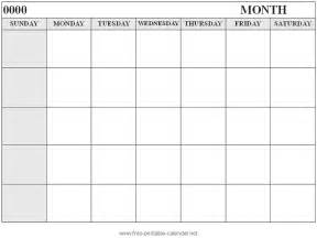 free printable monthly calendar template printable calendar