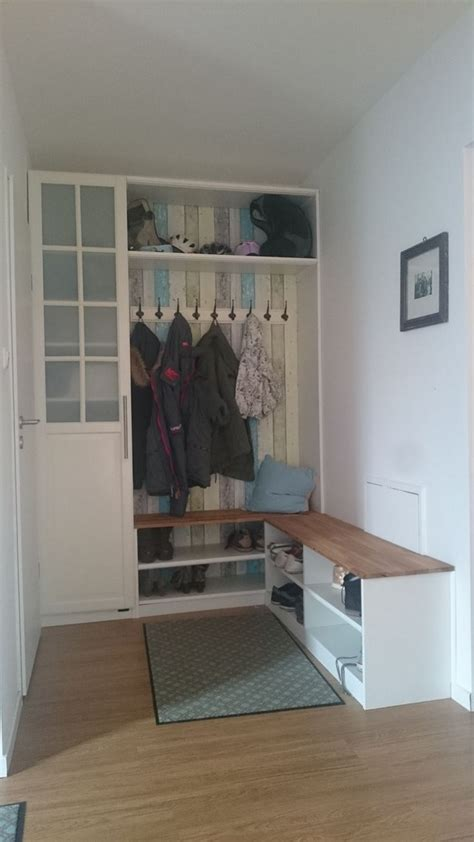 wohnideen flur garderobe