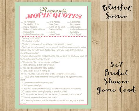 printable movie quotes game bridal shower game name that movie love quote romantic