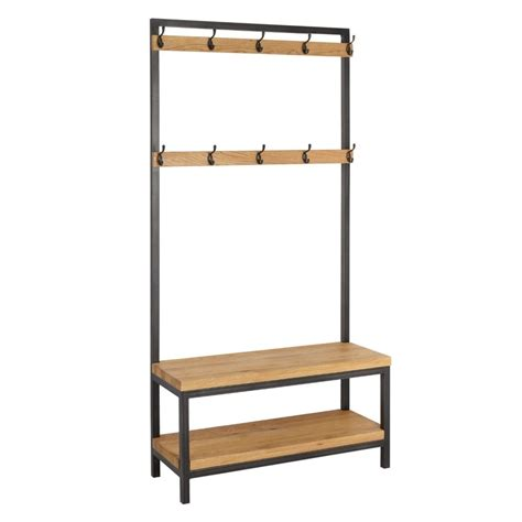 coat stand with bench coat stands hallway units the furniture co