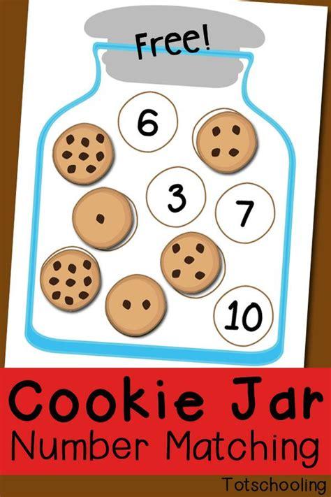 printable kindergarten math games cookie jar number matching free printable preschool math