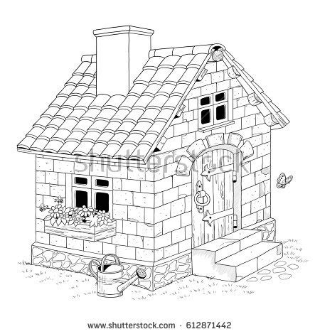 printable straw house free printable coloring pages 3 little pigs three for