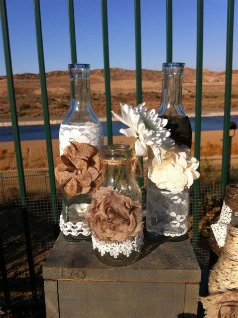 rustic and shabby chic house with lots of wood in decor digsdigs rustic wedding bottles ten vintage vases rustic farm