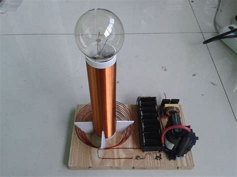 Tesla Coil Experiment Mini Tesla Coil Teaching Experiment In Blocks From Toys