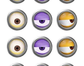 printable minion eyes and mouth minion eyes printable etsy