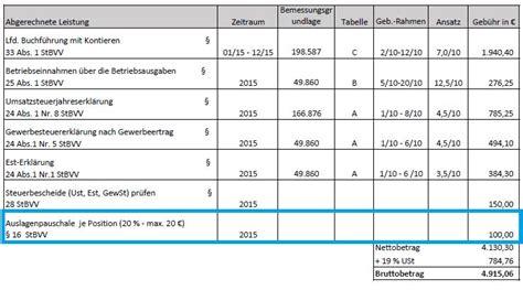 Musterrechnung Steuerberater so 252 berpr 252 fen sie ihre steuerberaterkosten felix1 de