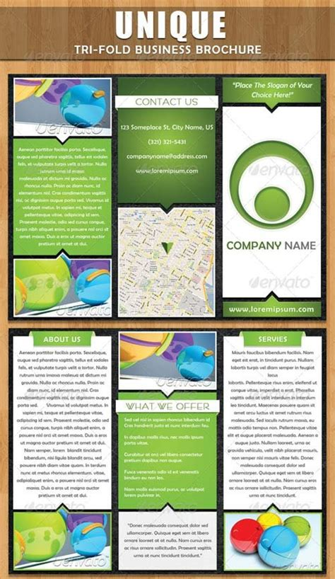 brochure templates graphicriver unique tri fold brochure