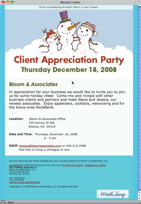 Christmas Party Email Invitations Cimvitation Customer Appreciation Event Invitation Template