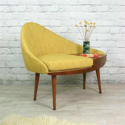 vintage mid century modern retros 60s sliding door floating cone leg vintage 1960s telephone seat mustard vintage
