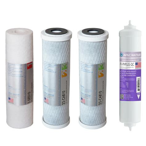 osmosis water filters apec water systems ultimate 10 in capacity replacement pre filter set for 90 gpd ph