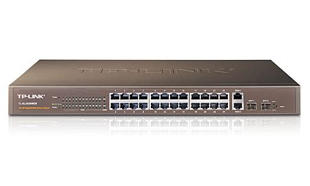 Switch Hub 24 Port Tp Link jual switch hub tplink 24 port plus 4 port web smart gigabit tl sl2428web harga rp 1 523 000