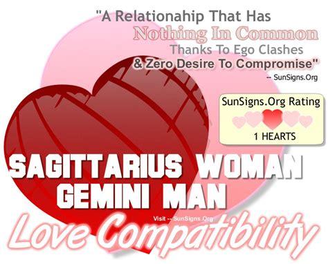 Sagittarius woman and gemini man marriage