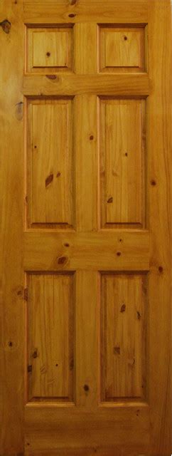 6 Panel Knotty Pine Interior Doors 6 Panel Knotty Pine Door