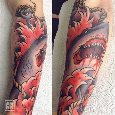 harpoon tattoo 1000 images about shark tattoos on