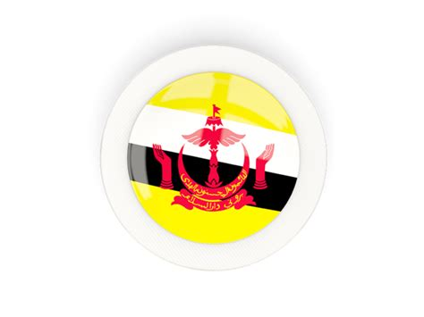 icon design brunei round carbon icon illustration of flag of brunei