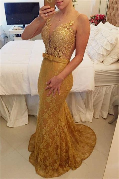 gold lace prom dress naf dresses