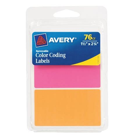 avery removable labels rectangular 0 5 x 0 75 inches