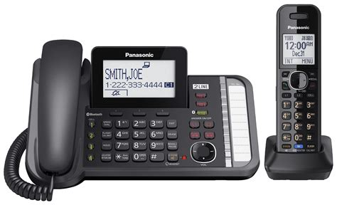 panasonic kx tg9581b 2 line dect 6 0 plus digital corded