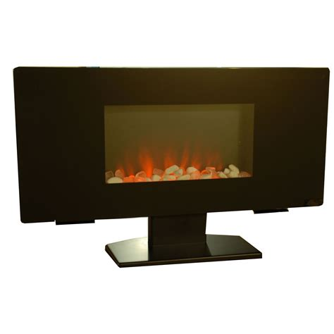 Wall Mounted Electric Fireplace Heater Grand Aspirations Electric Flat Panel Wall Pedestal Mounted Led Fireplace Heater Ebay