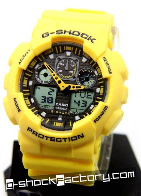 G Shock Ga100 9 g shock ga 100a 9a bumble bee yellow by www g