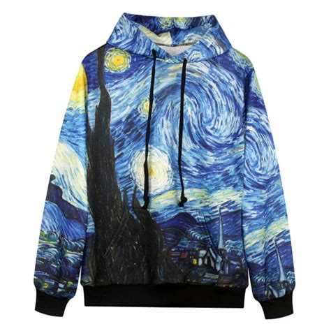 cool sweatshirt hooded 3d print gogh
