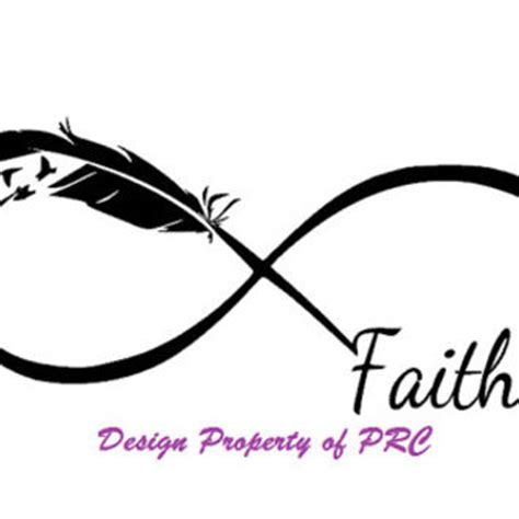 and faith infinity faith infinity car decal car sticker from prcdecals on etsy