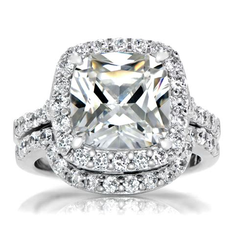 cusion cut cushion cut diamond cushion cut diamond ring set