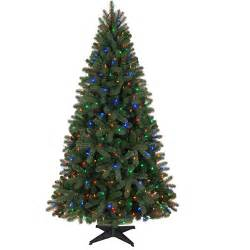 Holiday time pre lit 6 5 boston artificial christmas tree led multi