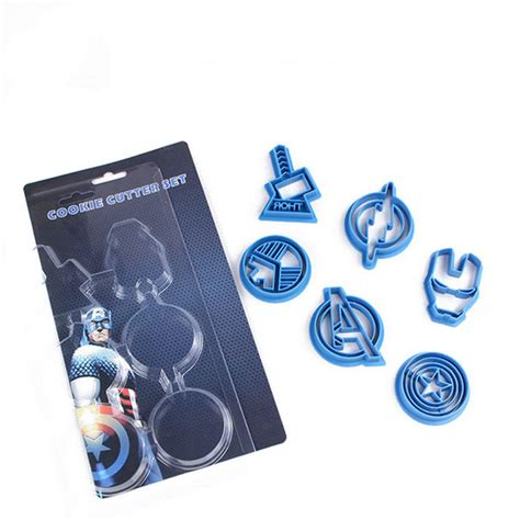 Set Hello 6 Pcs plastic 6pcs set marval s the cookie cutter thor iron the flash captain america