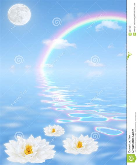 Peace Lily heavenly rainbow fantasy stock image image 6511891