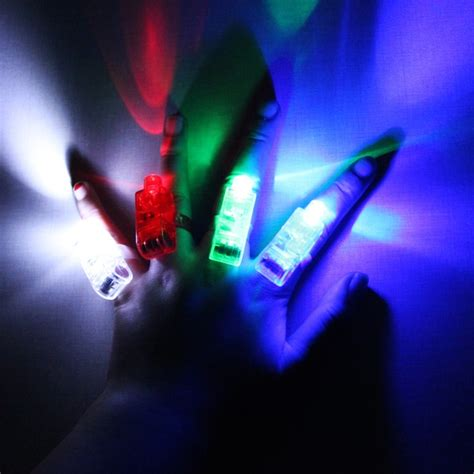Laser Finger Light 4 X Led 4 color led light laser finger for beams ring novelty toys price 1 36 fpvracer lt