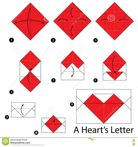How To Make An Origami Letter - pictures step by step origami drawing gallery