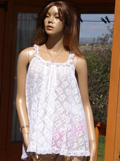 Bt2476 Tosca Lace Brukat Dress genuine vintage tosca lace babydoll nightie size large 300