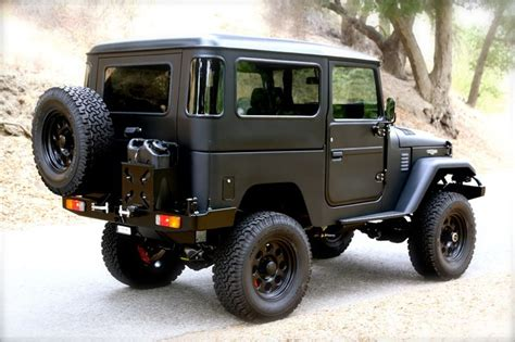 icon fj40 from the rear 3 4 volcanic black icon fj40 pinterest