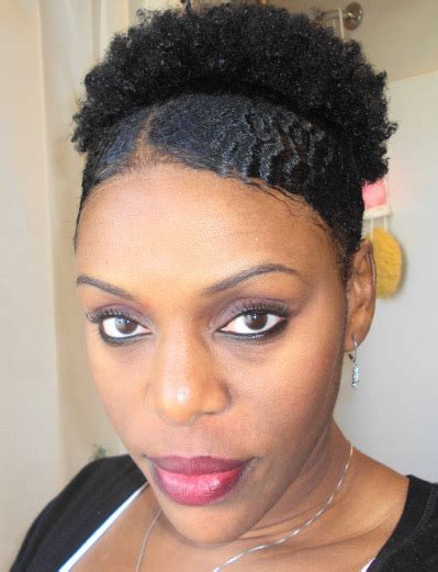 styling afro natural hair african american puff hairstyle