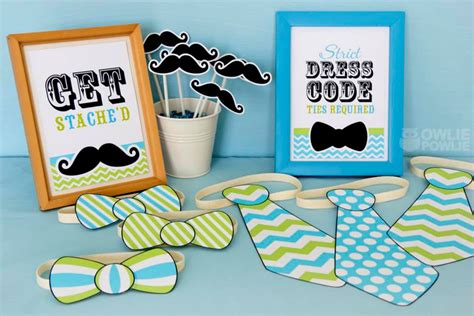 Mustache And Tie Baby Shower Decorations by Mustache Baby Shower Ideas