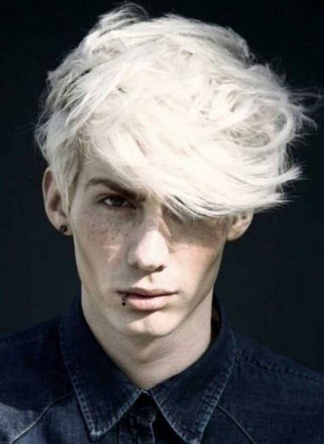 platinum blonde men hairstyle  summer hair color