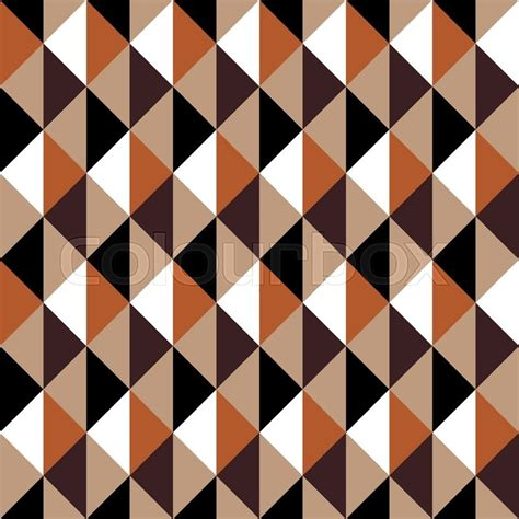 Sixties Home Decor by Geometric Vector Pattern In Retro Style Abstract Trendy