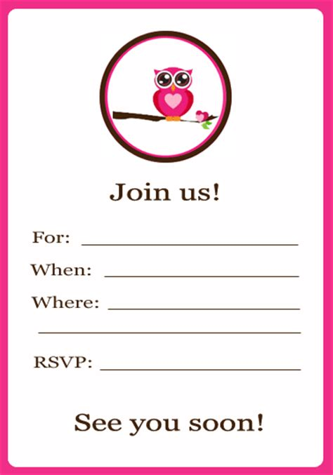 free printable invitations and cup cake toppers owl theme go grow go