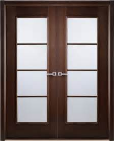 African wenge interior double door frosted simulated